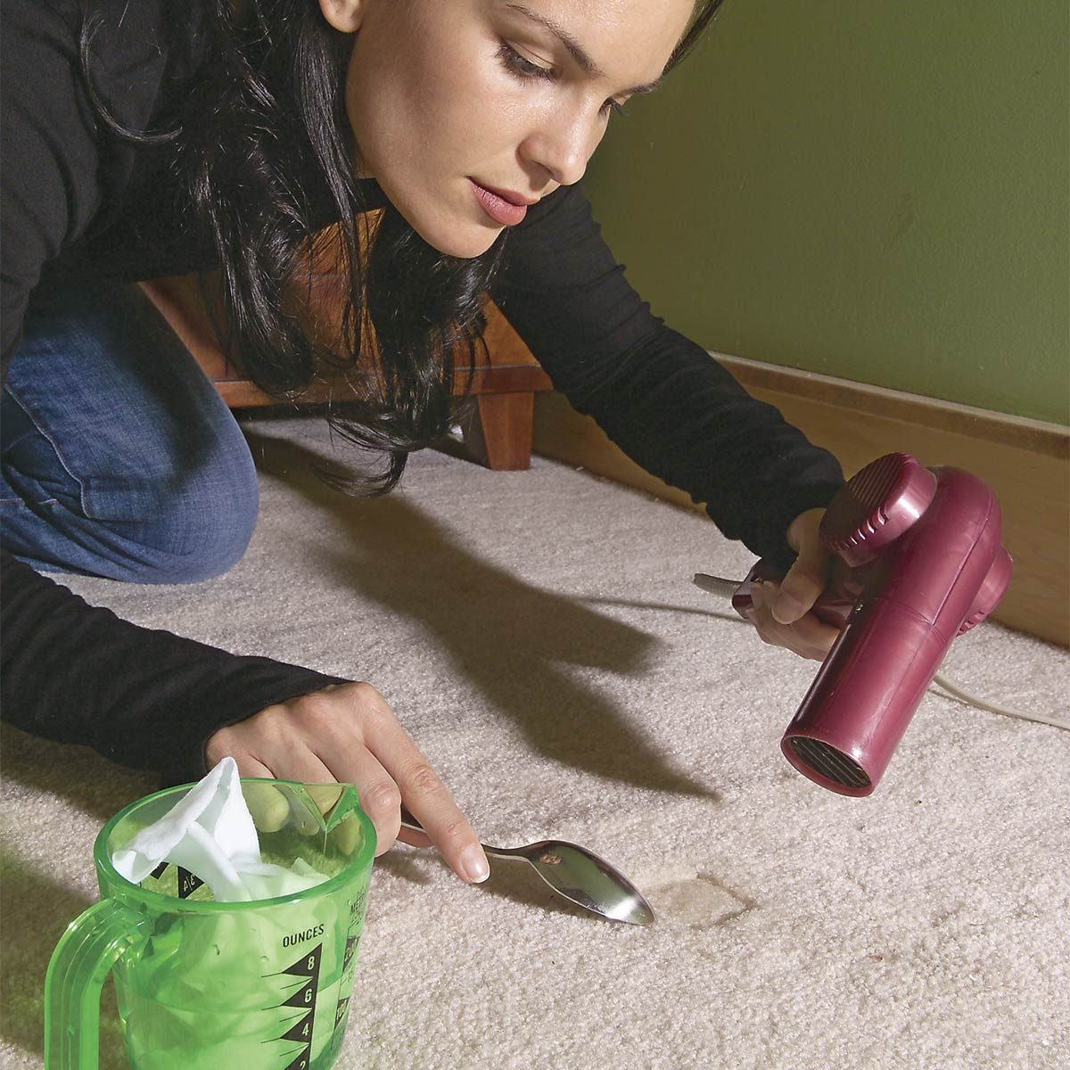 Fluff up Furniture Dents in Your Carpet