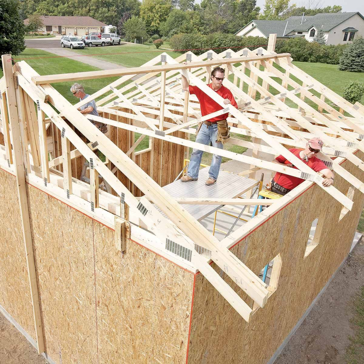 Build Shed Roof Trusses
