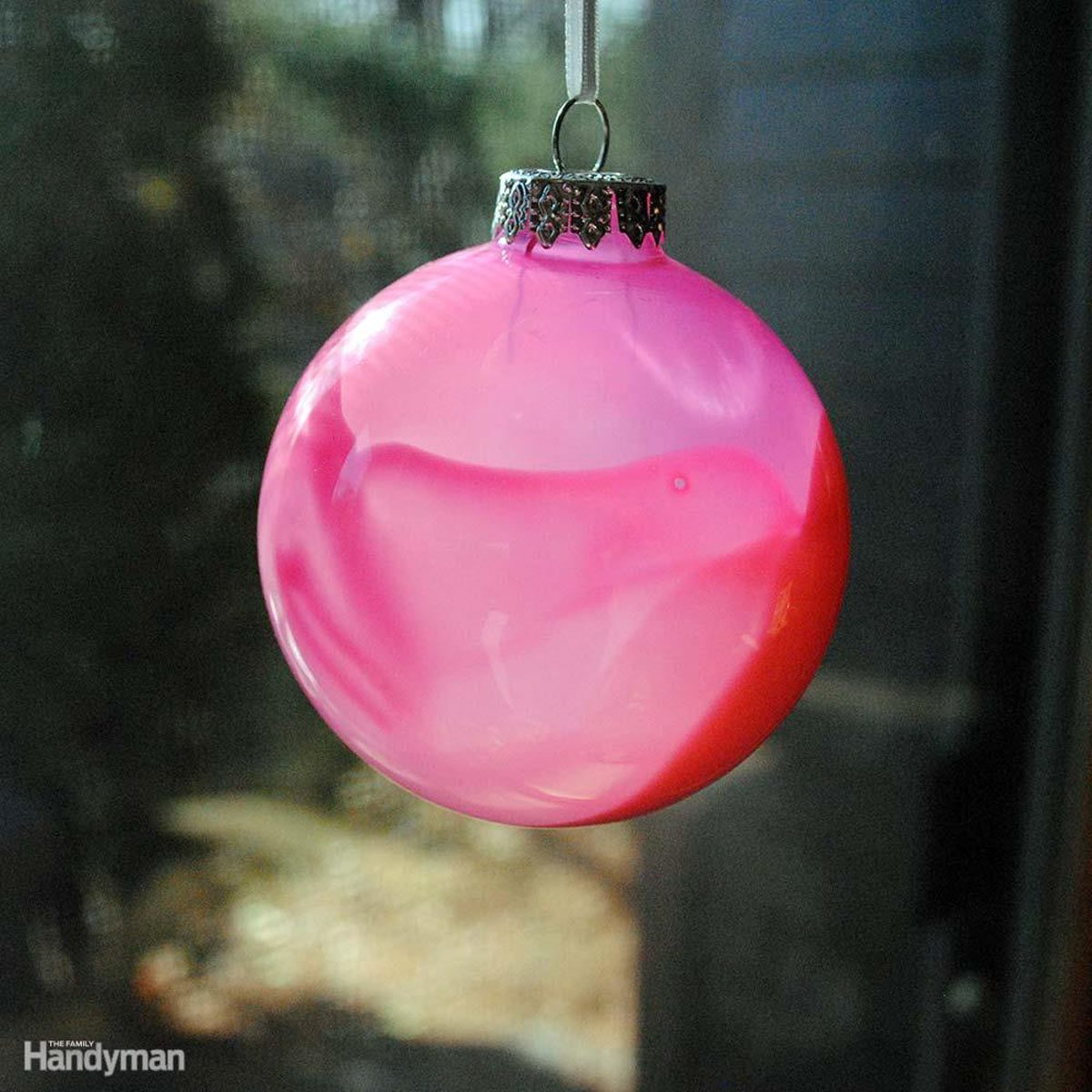 Simple Christmas Tree Decorations: Translucent Painted Christmas Bulbs
