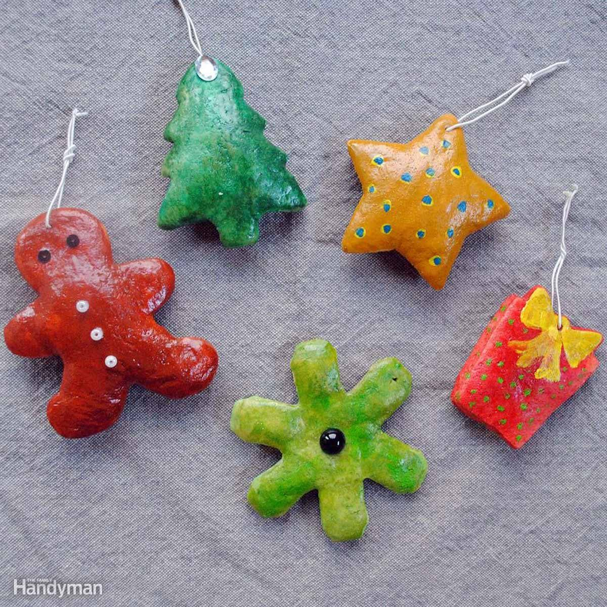 Simple Christmas Tree Decorations: Salt Dough Cookie Ornaments