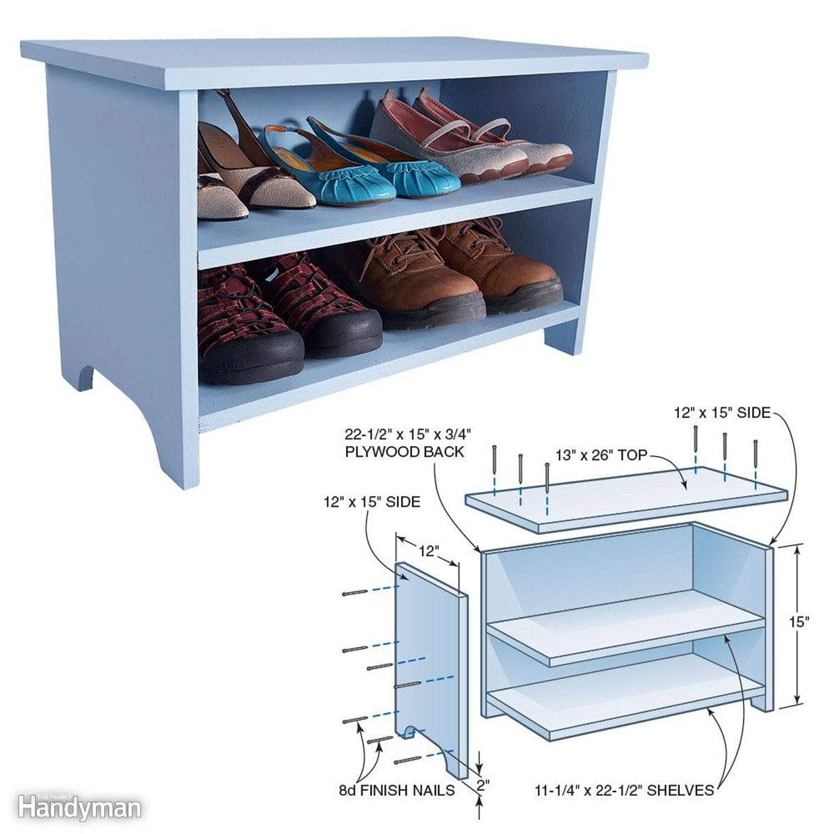 Build a Shoe Storage Booster Stool