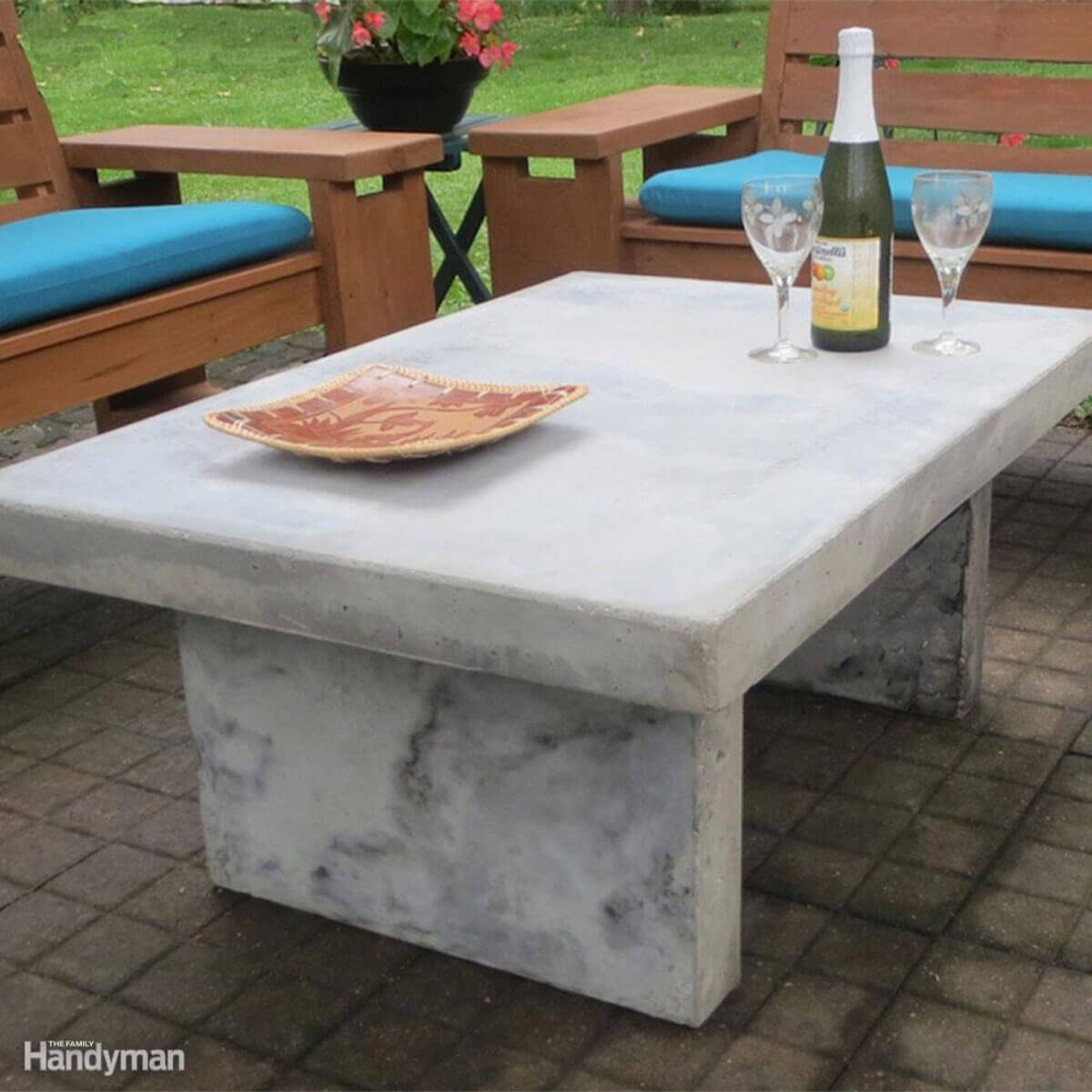 Faux Marble Table