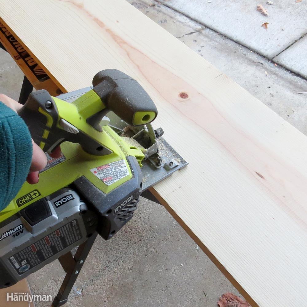 Build a Shoe Rack: Cut Shelves to Size