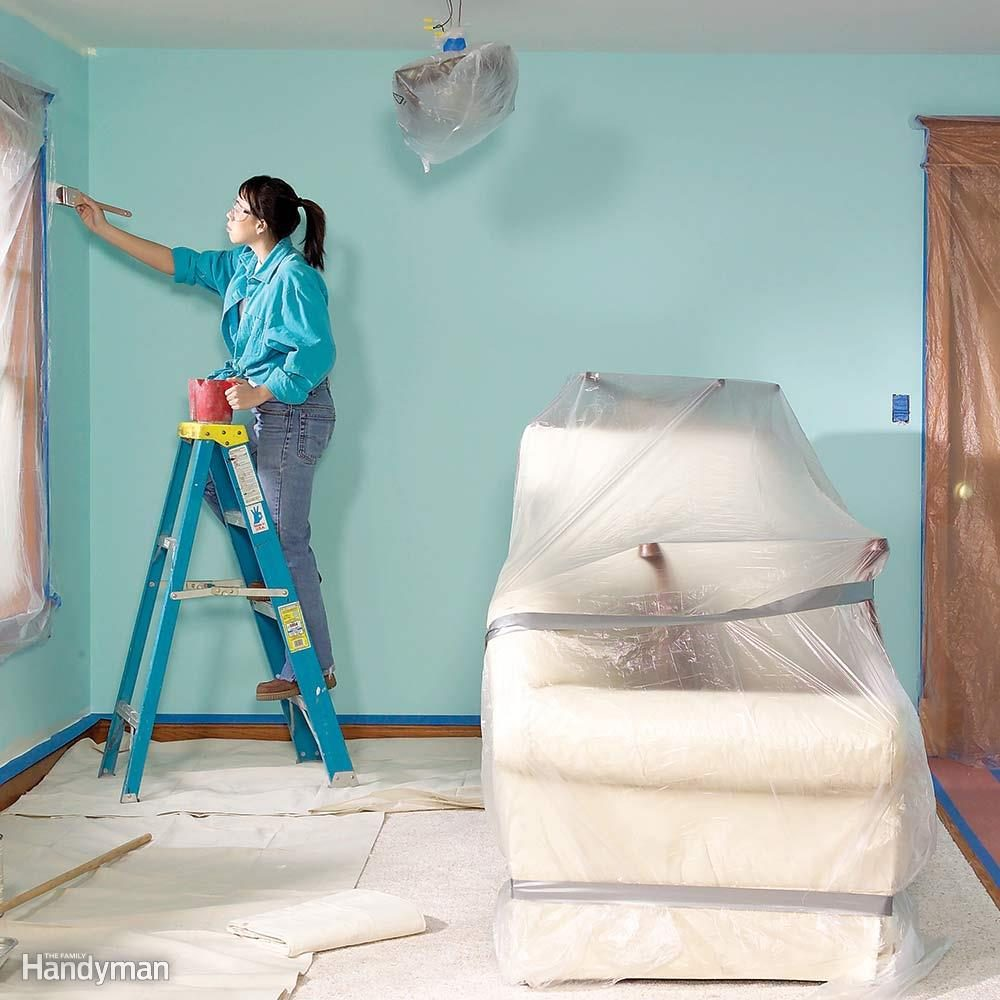 Move Furnishings for Easy Access to the Walls and Ceiling