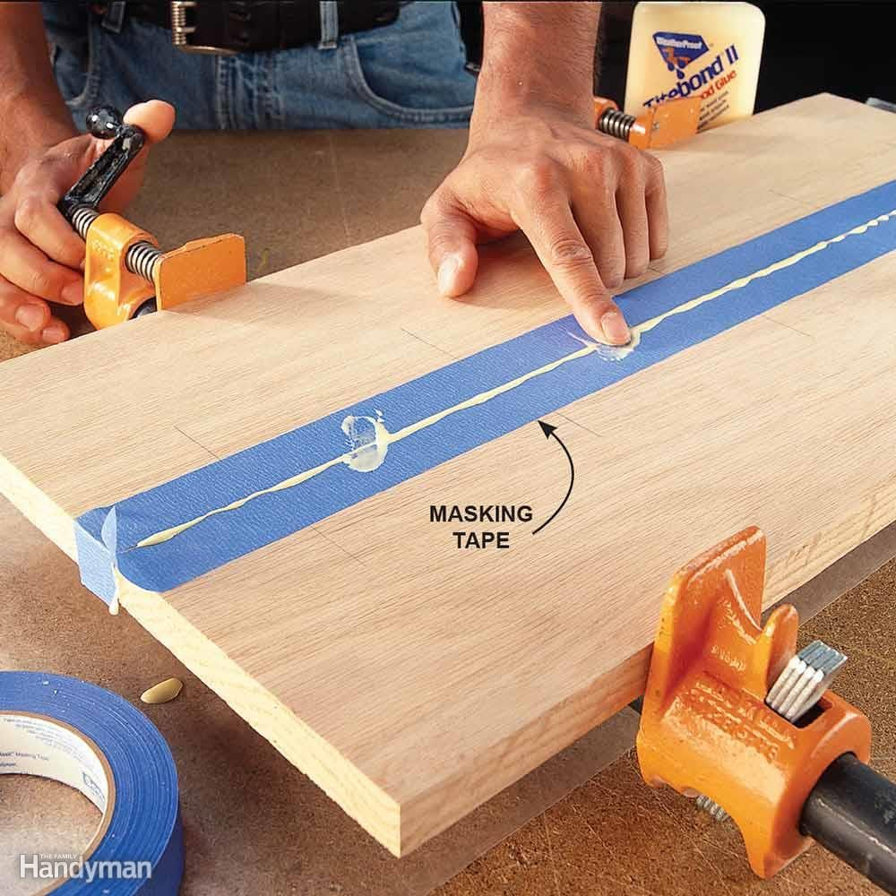 Apply Tape to Control Glue Squeeze-Out