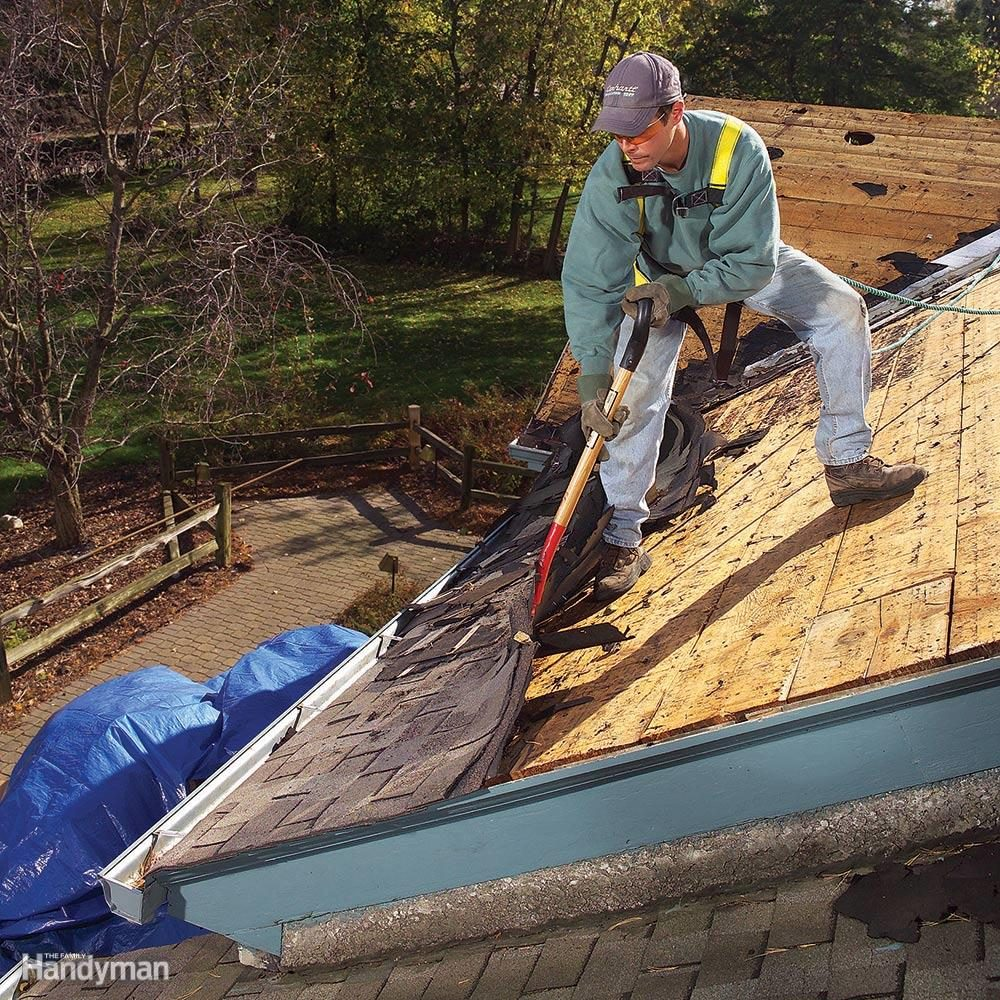 Have a tarp for roof tear-offs