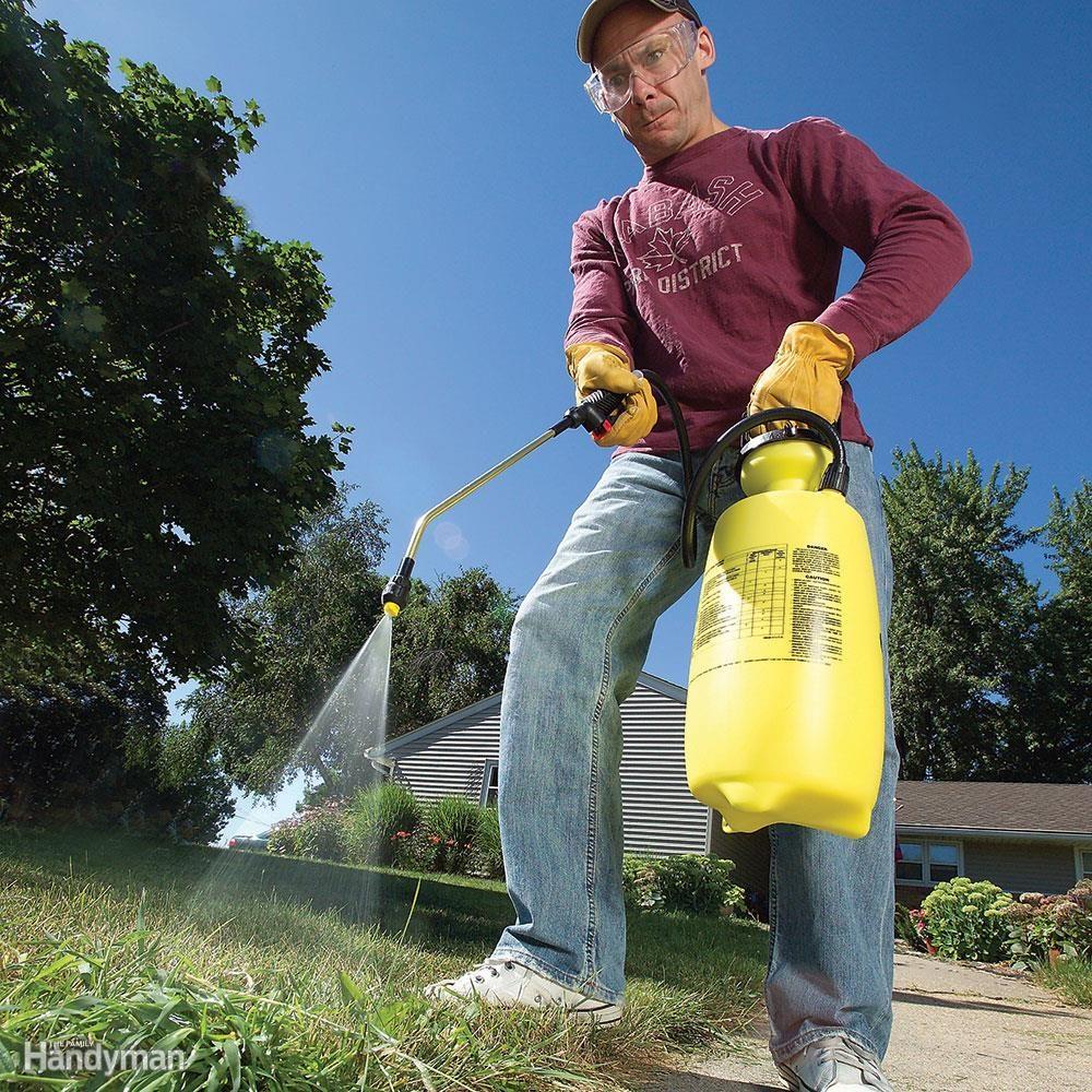 Spray stubborn patches