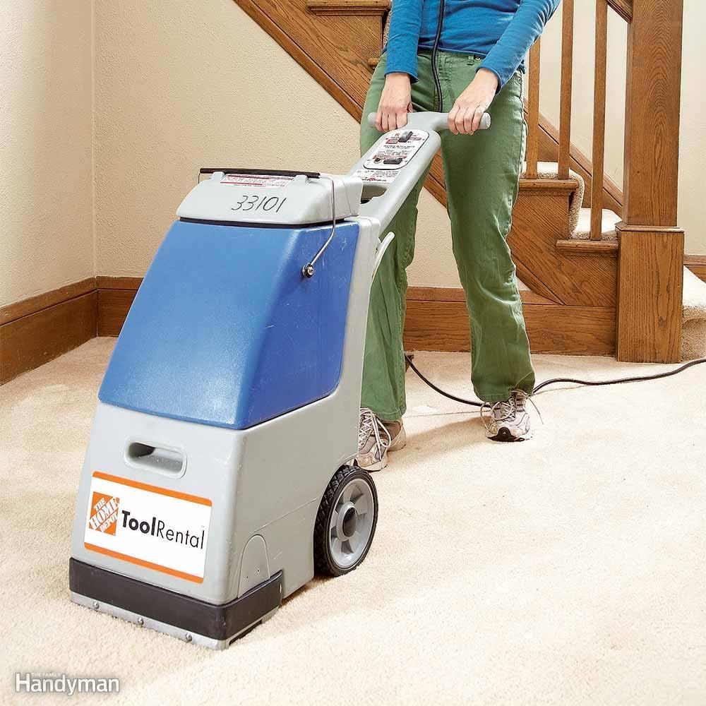 Using Rented Carpet Cleaning Equipment