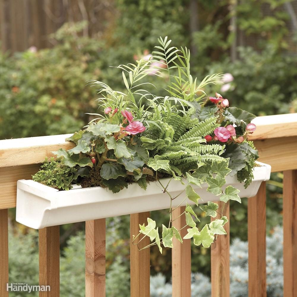 Railing-Mounted Deck Planter