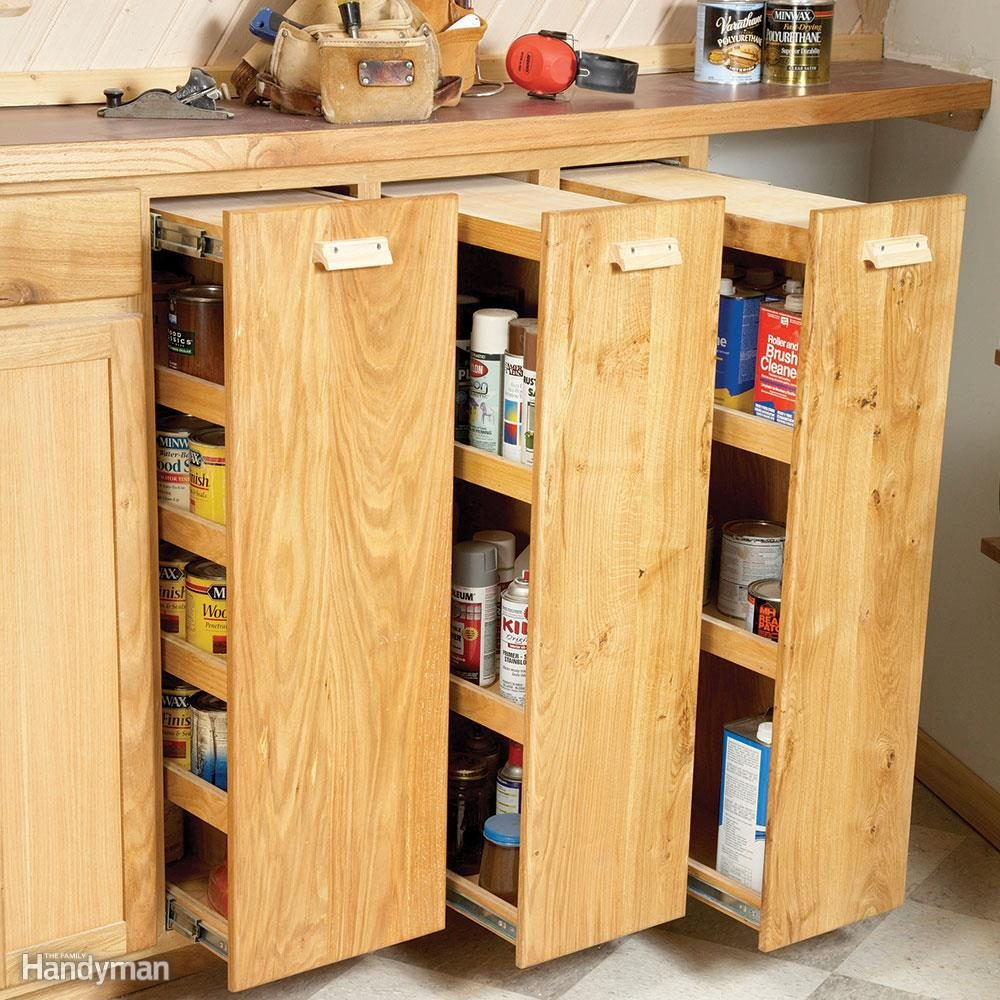 Start at the Bottom with Slide Out Cabinet Shelves
