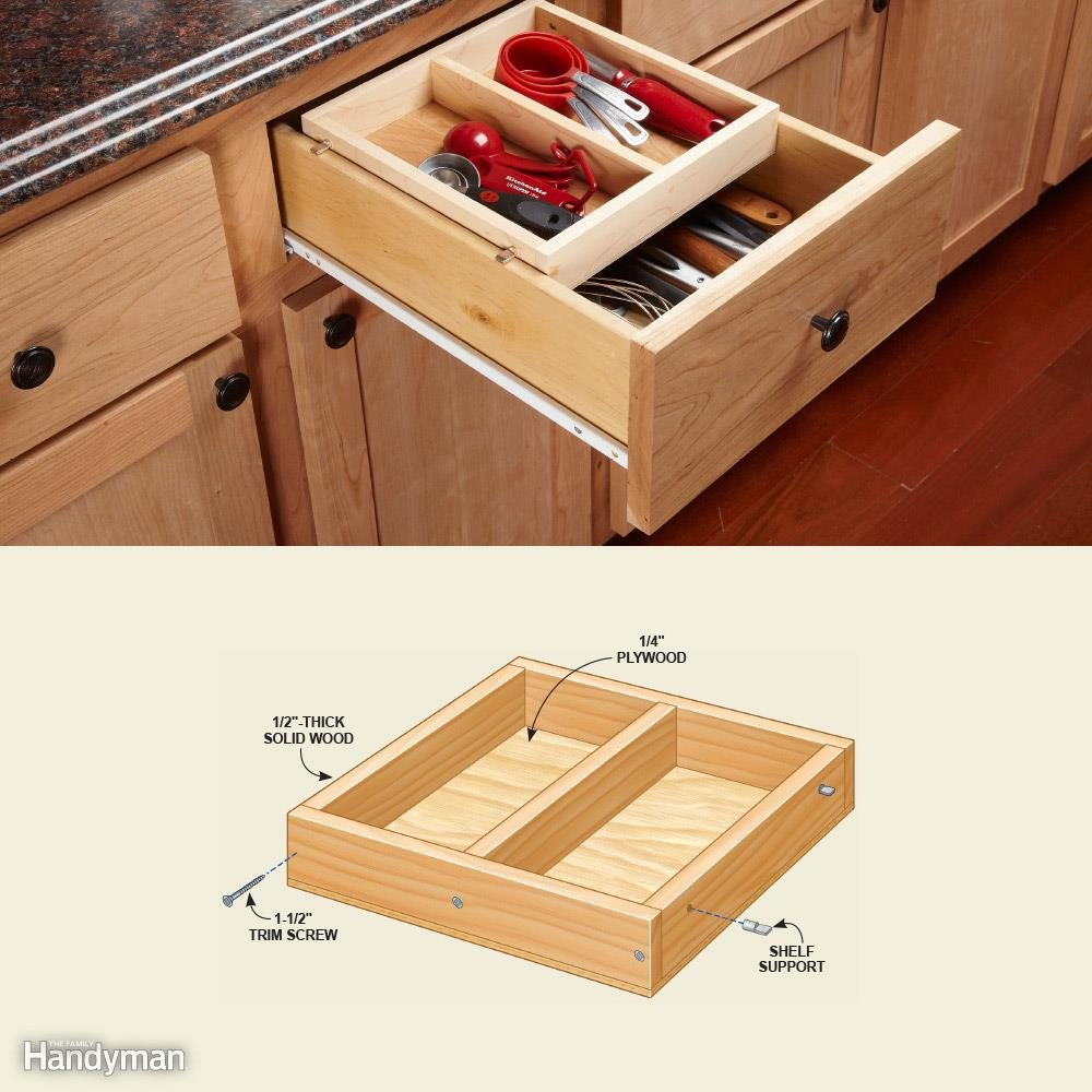 Cabinet Drawer Organizer: Drawer in a Drawer