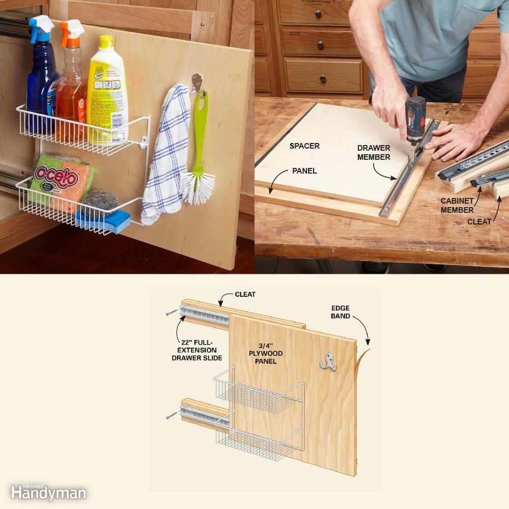 Kitchen Cabinet Storage Organizers: Rollout Storage Panel