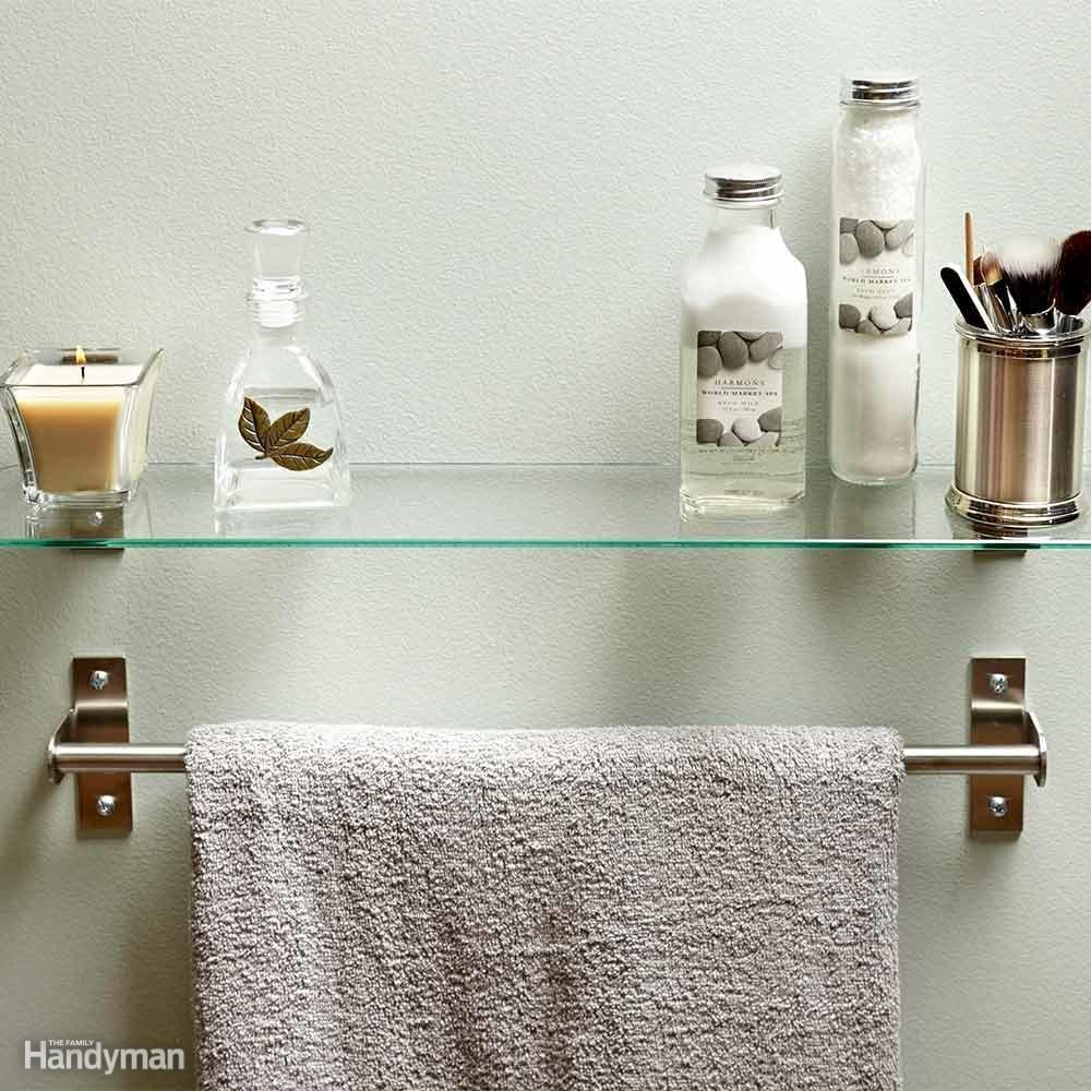 Hang a Shelf Over Your Towel Bar