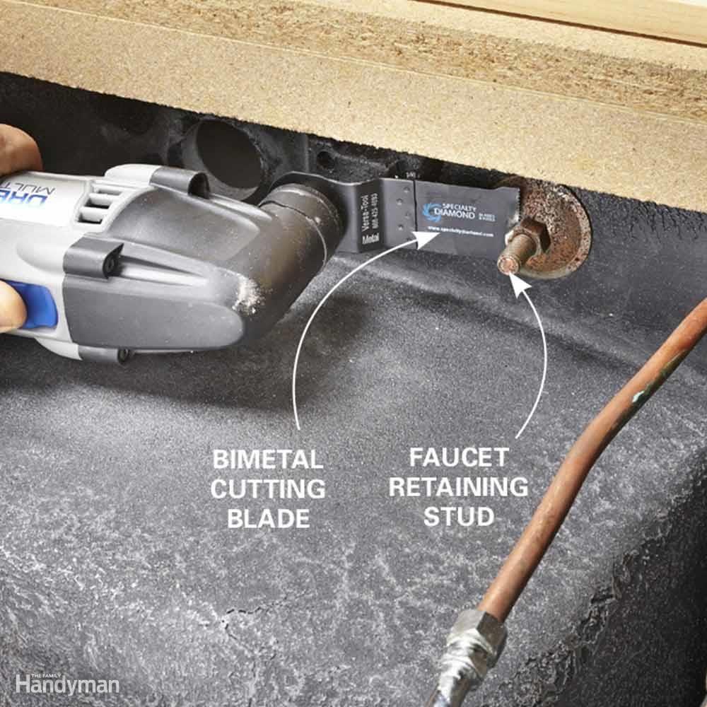 Cut Rusty Faucet Nuts