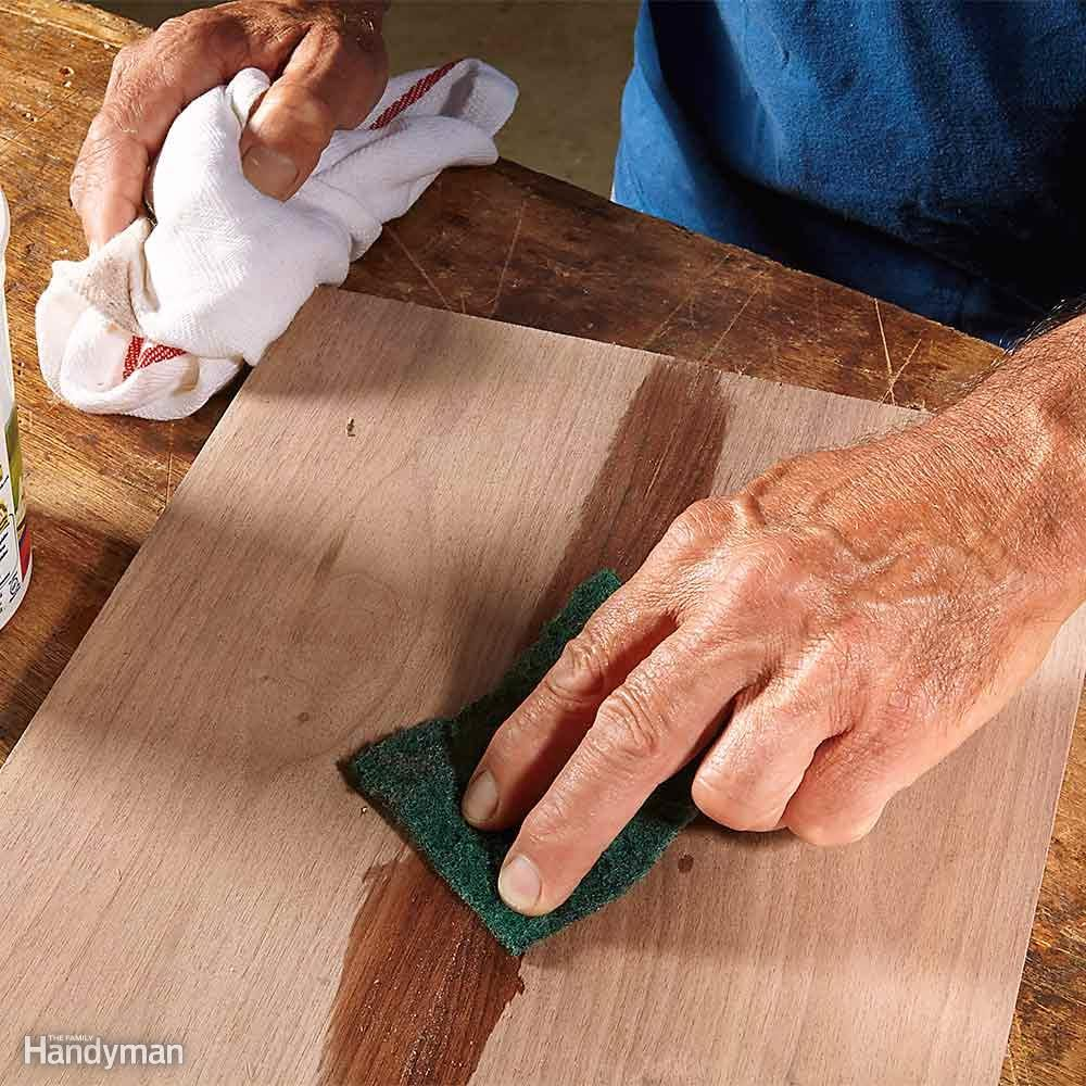 Remove Excess Glue With an Abrasive Pad