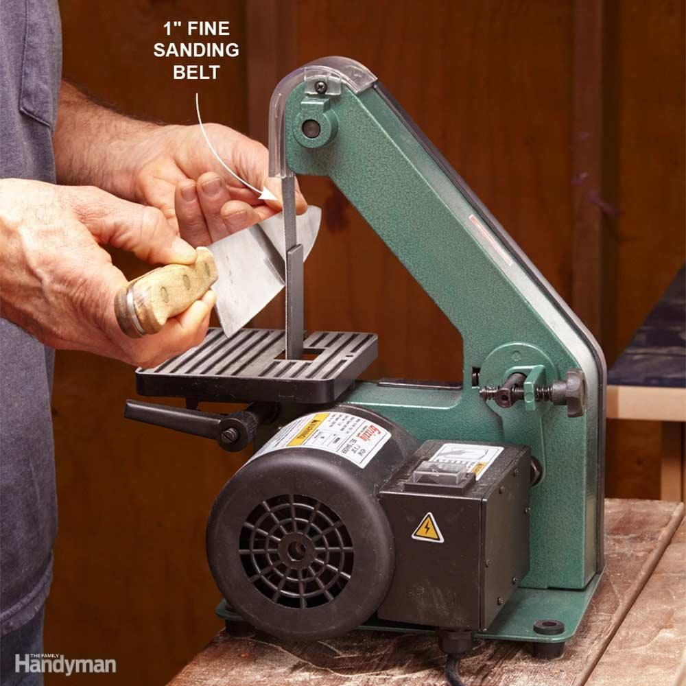 A 1-in. Belt Sander is a Versatile Sharpening Tool