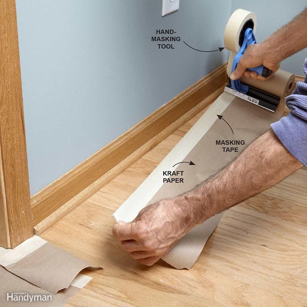 Apply Kraft Paper Border to Protect Floors when Painting
