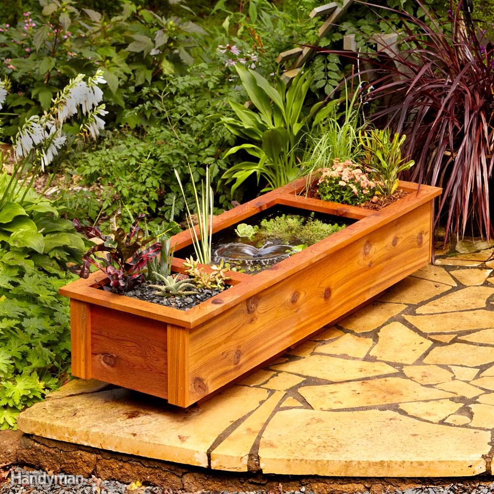 Patio Garden Pond and Planter