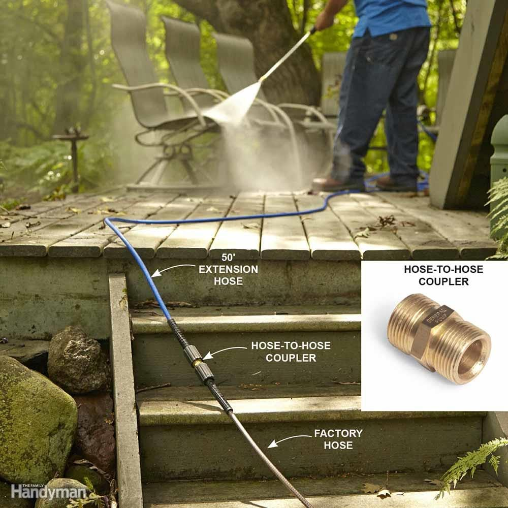 Improve a Pressure Washer with a Hose Extension
