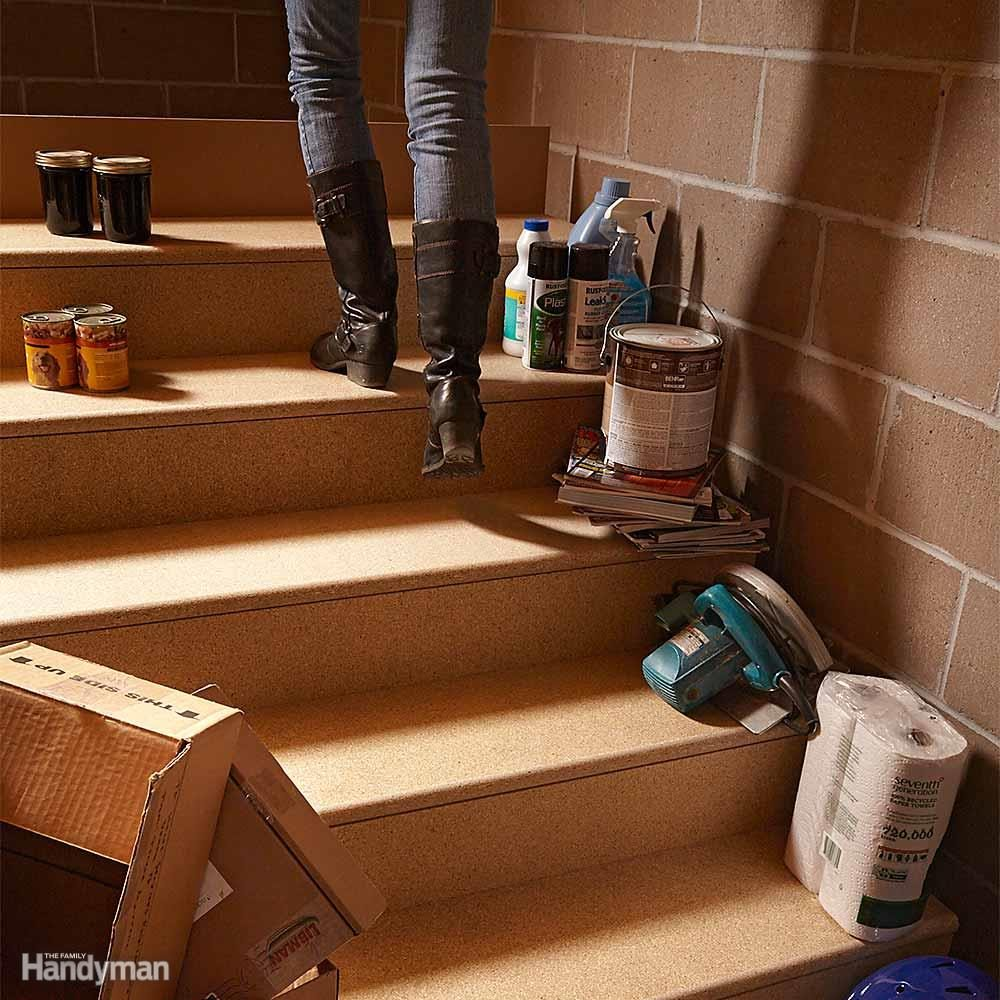 Ditch the Clutter, Especially on Stairs
