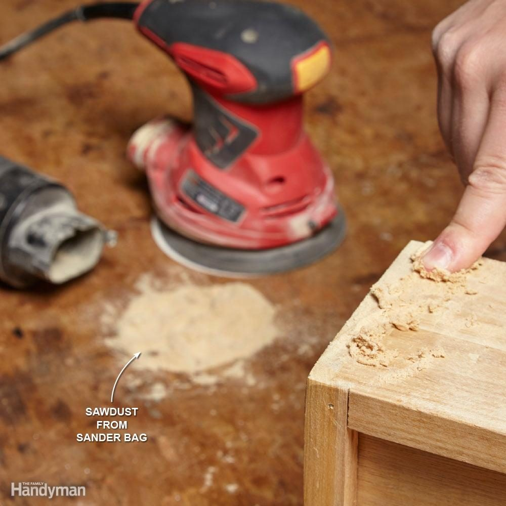 Glue + Sawdust = Wood Filler