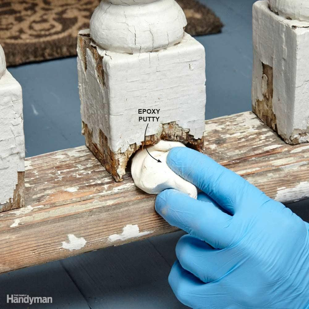 Replace Rotted Wood With Epoxy Putty