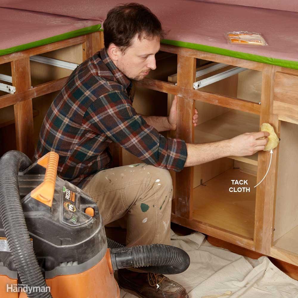 Vacuum, Then Use a Tack Cloth