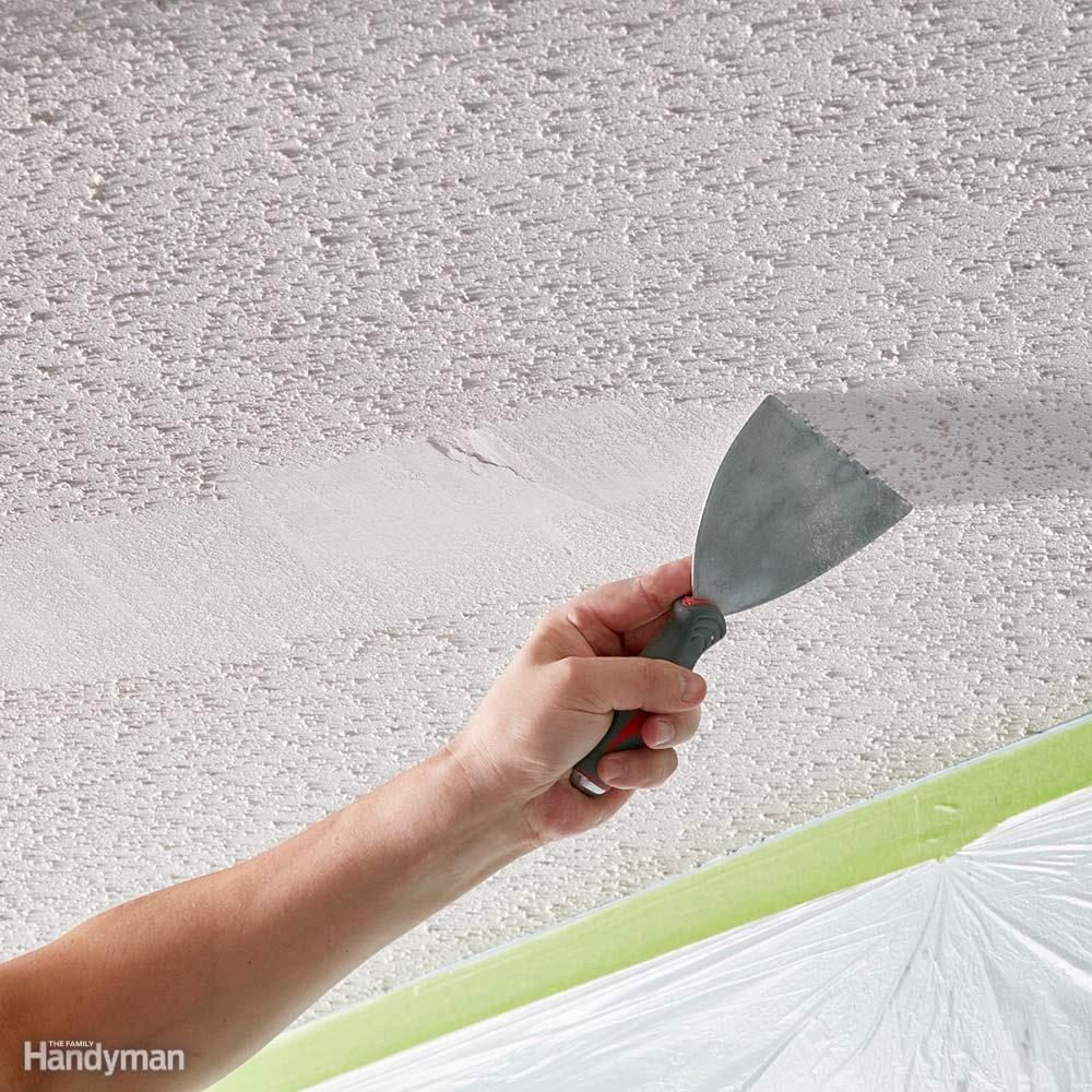 Do a scrape test before learning how to remove popcorn ceiling