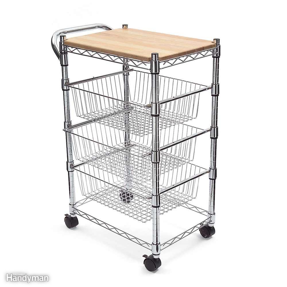 Expand the Counter with a Kitchen Cart