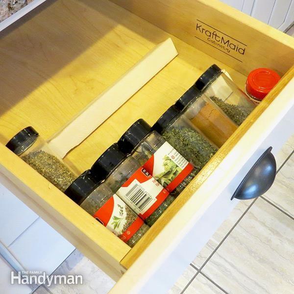 Quick kitchen spice storage solutions