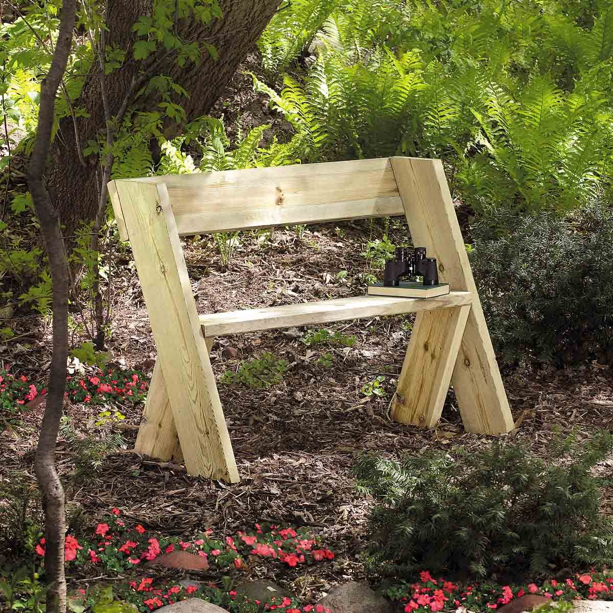 Wooden Bench for Less