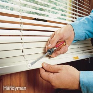 Shortening Horizontal Window Blinds