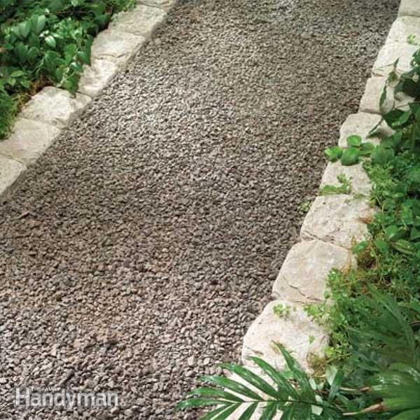 backyard gravel path