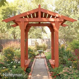 10 Awesome Garden Arbor and Trellis Projects