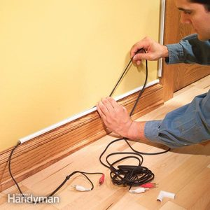 How to Hide Wiring: Speaker and Low-Voltage Wire