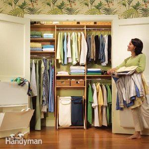 Closet Organization: A Simple Closet Rod and Shelf System
