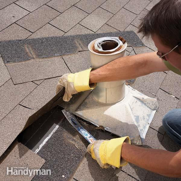 Replace Plumbing Vent Flashing