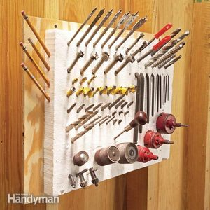 Clever Tool Storage: Drill Bits and Other Pointy Tools