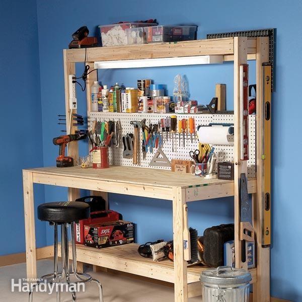 building a workbench-workshop bench work bench garage workbench