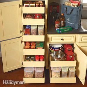 Kitchen Storage: Pull Out Pantry Shelves
