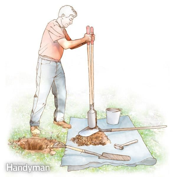 how to dig a hole