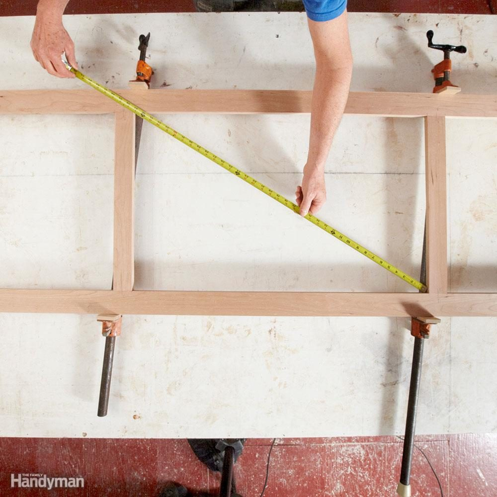 Shift clamps to square your work