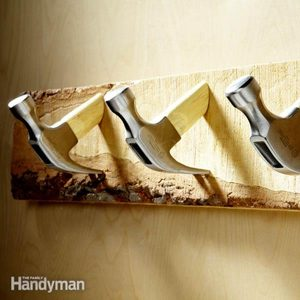 DIY Coat Hooks from Old Tools and Hardware