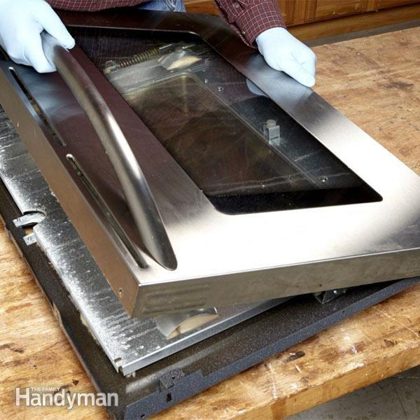 clean oven glass oven door glass