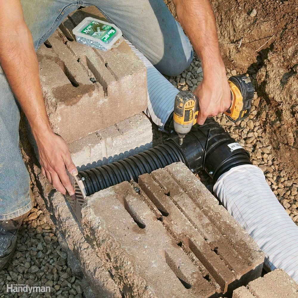 Provide plenty of drainage between landscape retaining wall blocks