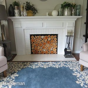 How-To Build a Wood Log Faux Fireplace Insert