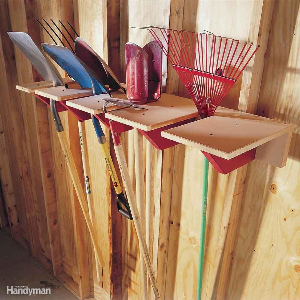 Simple long-handle tool holder
