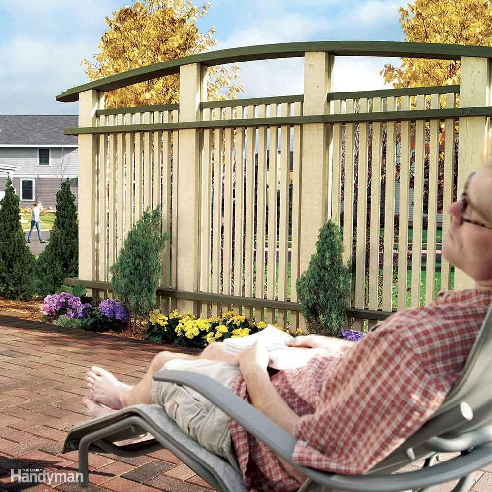 Construct a Patio Privacy Screen