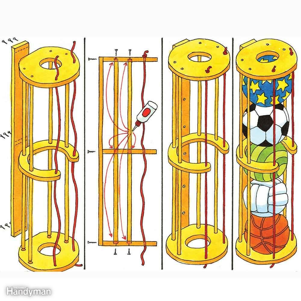 Sports Equipment Storage: Brilliant Ball Storage