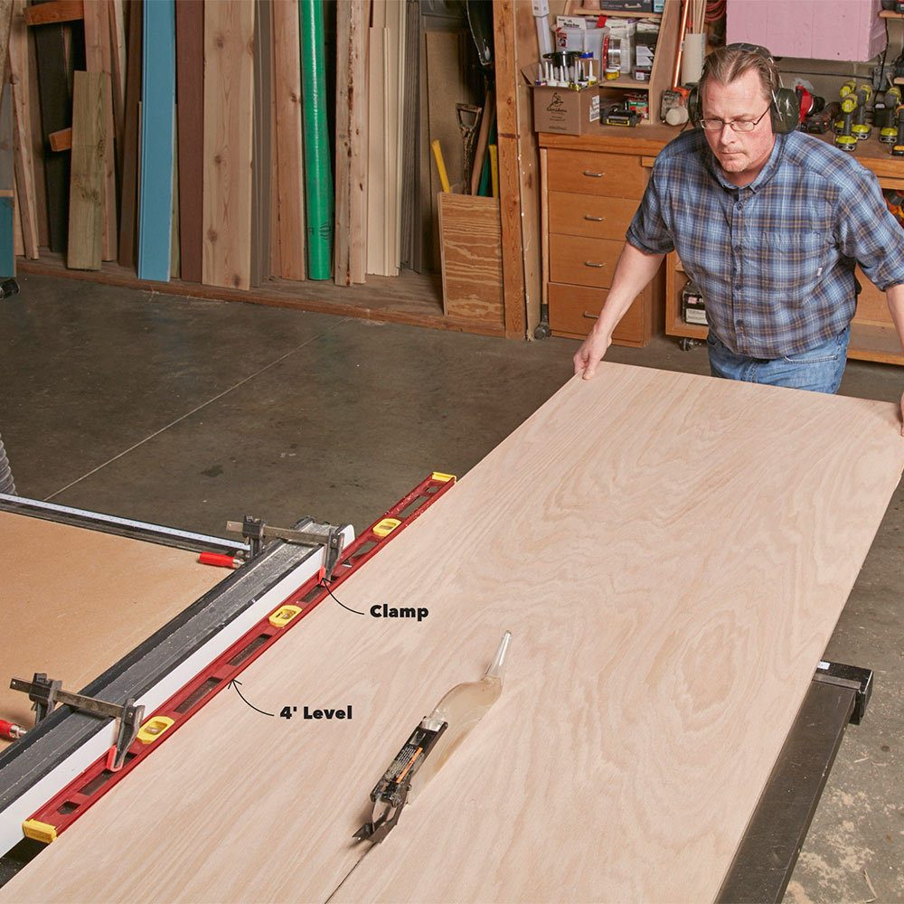 5. Use a level to Extend your table saw fence